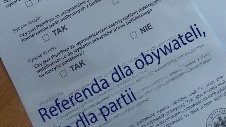 Referenda dla obywateli, nie dla partii