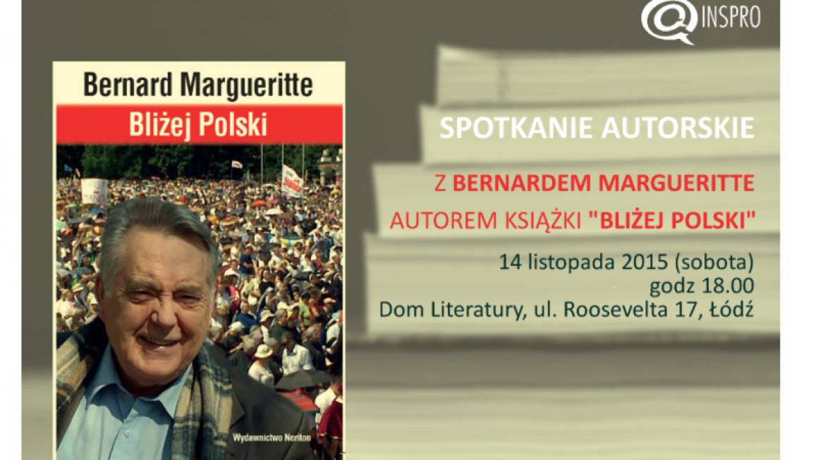 Spotkanie autorskie z Bernardem Margueritte