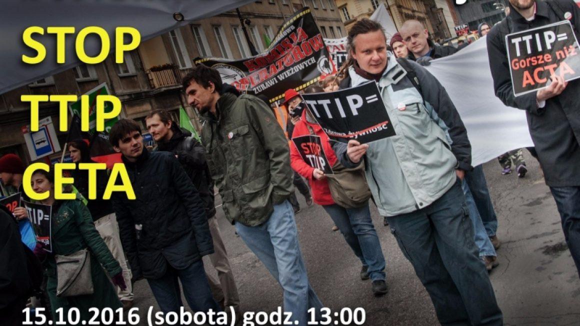 Manifestacja STOP TTIP i CETA
