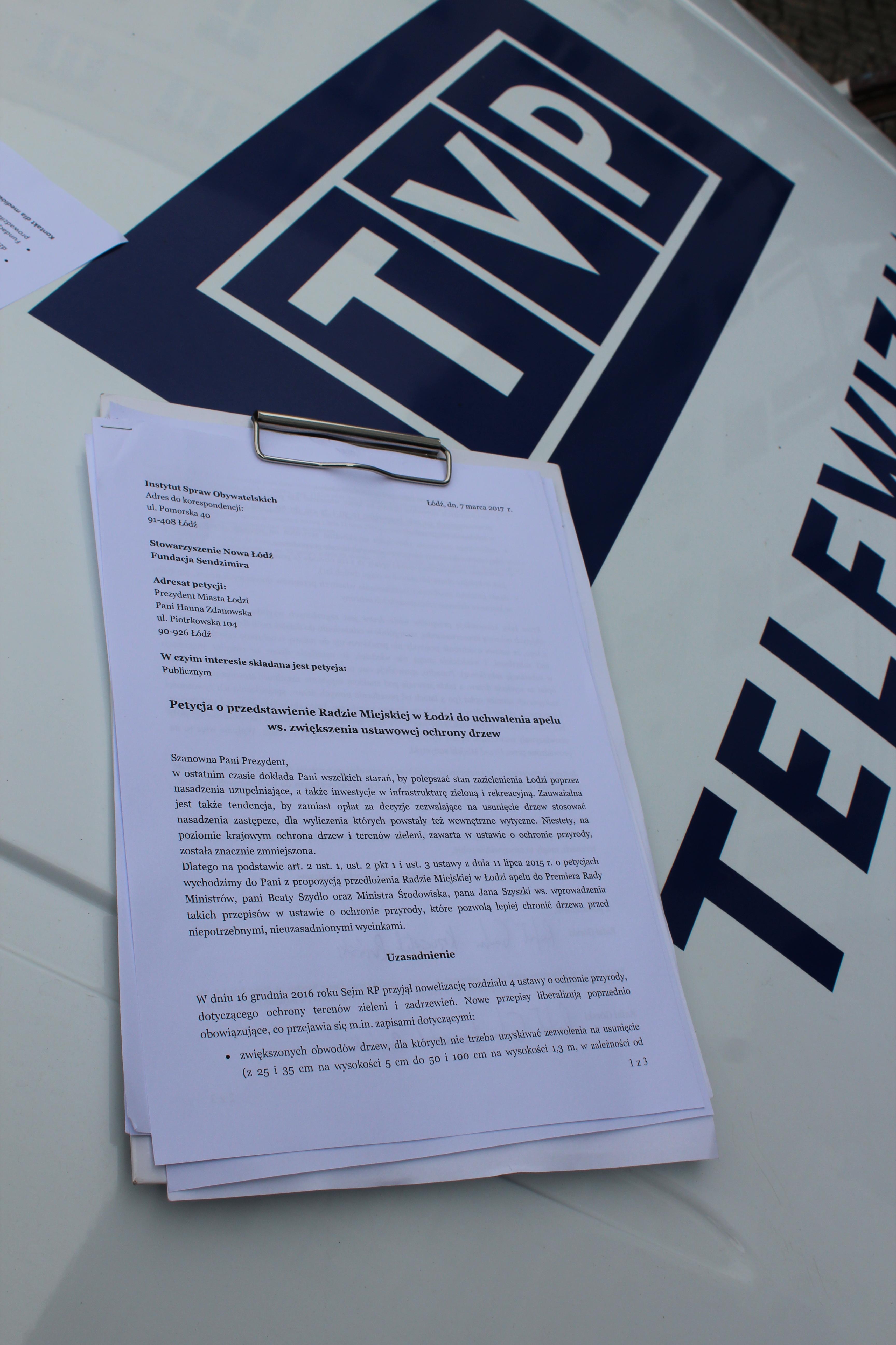 petycja ws. ochronyzłożenie petycji ws. ochrony drzew drzew