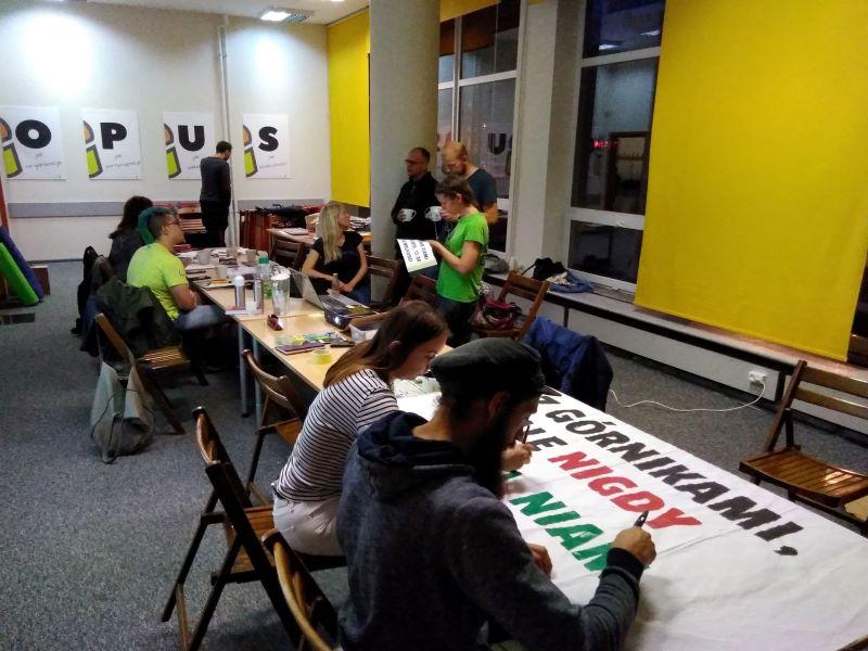 przygotowania do Strajku dla Ziemi Łódź