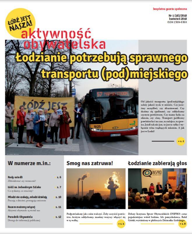 Aktywność Obywatelska – 1(18)/2018 – okładka