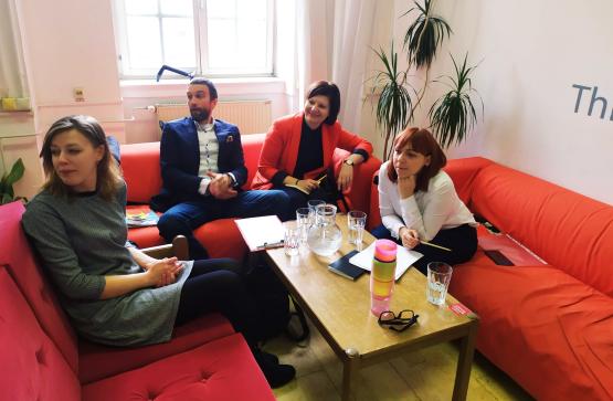 Lublana - spotkanie zprzedstawicielem zorganizacji pozarządowej