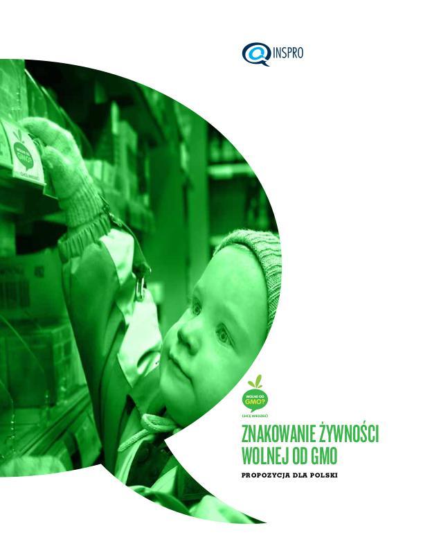 Znakowanie żywności wolnej od GMO – propozycja dla Polski – okładka