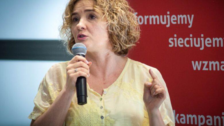 Edyta Nowicka podczas Kongresu Kuźni Kampanierów 2019, organizowanego przez Instytut Spraw Obywatelskich