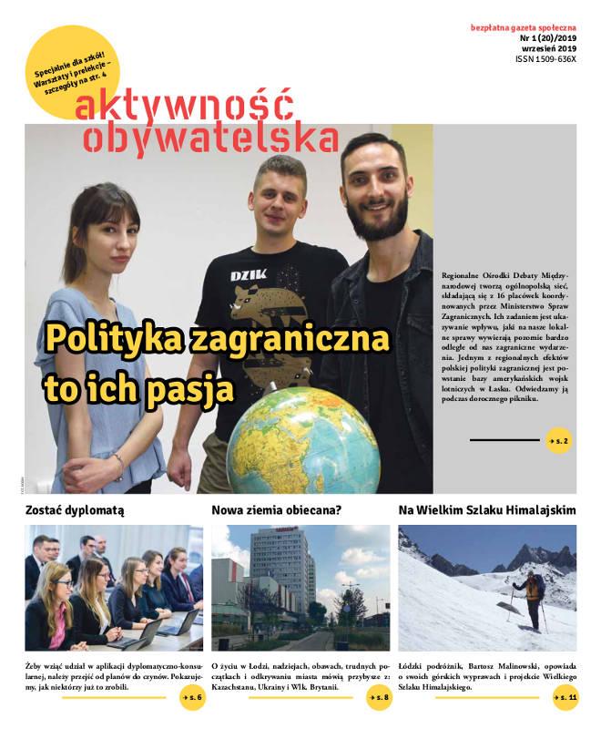 Aktywność Obywatelska 1(20)/2019 – okładka