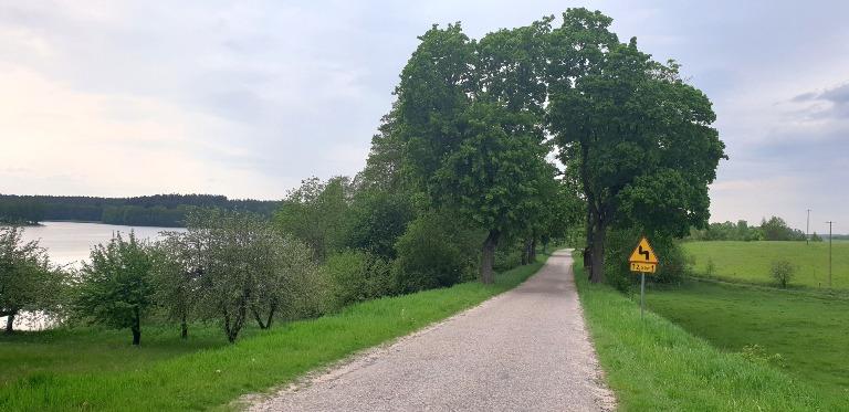 Okolice wsi Ogródek i Jez. Kraksztyn (gm. Orzysz)