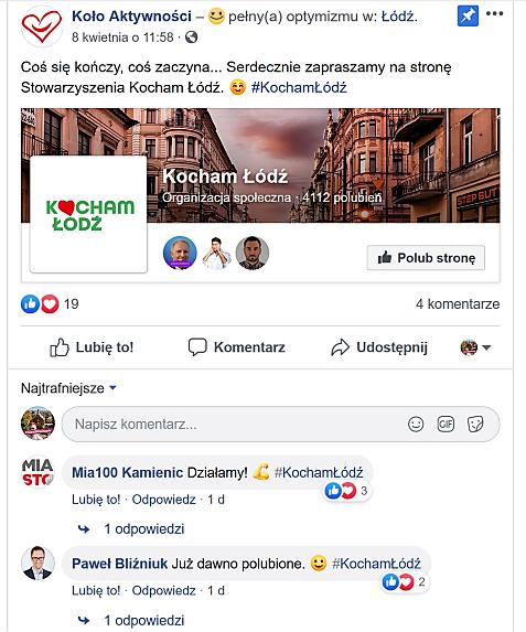 Koło Aktywności_Kocham Łódź