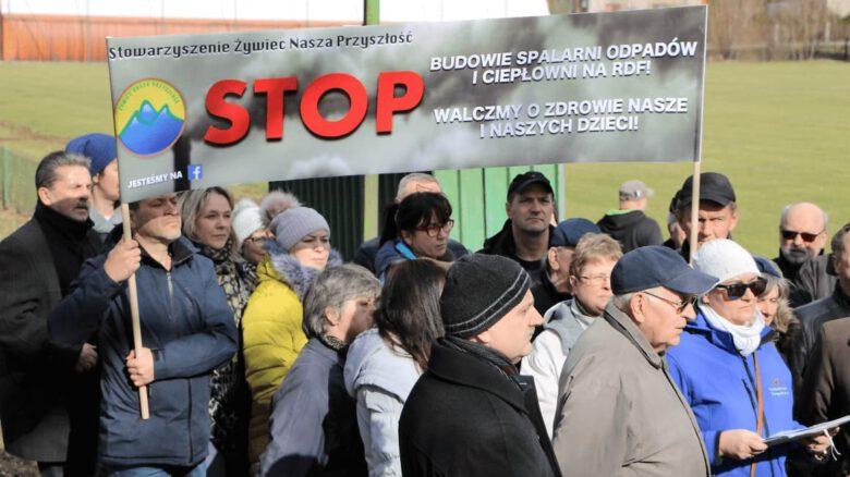 Żywiec_protest przeciwko budowie spalarni