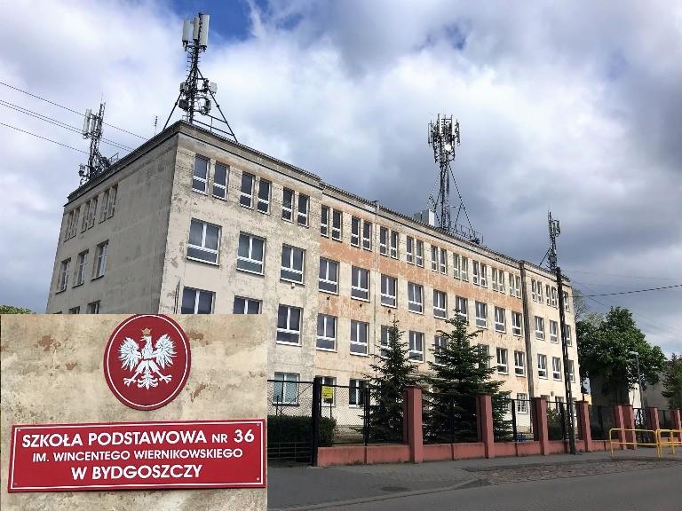 szkoła z antenami