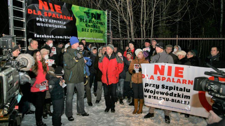 Protest antyspalarniowy - Bielsko-Biała