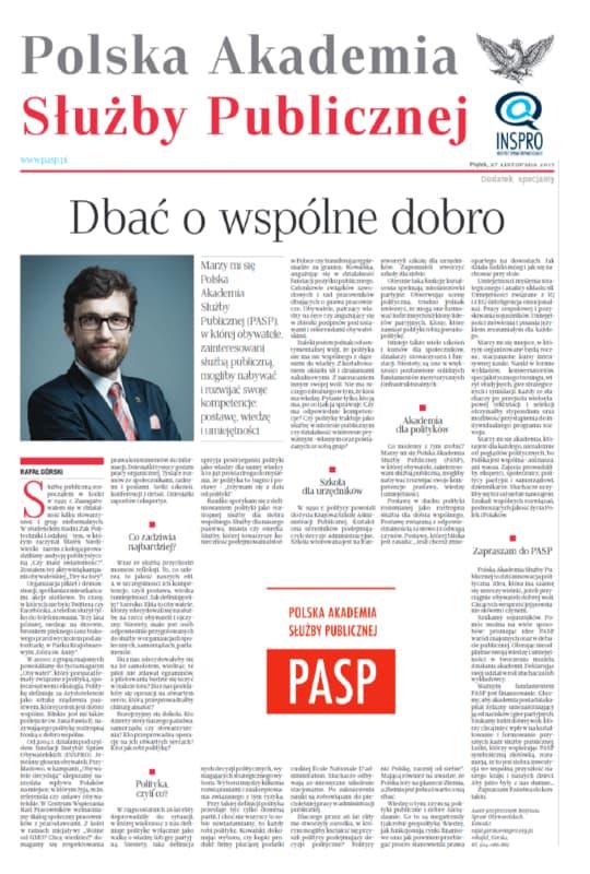Polska Akademia Służby Publicznej – okładka