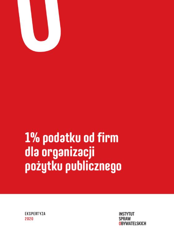 1% podatku odfirm dla organizacji pożytku publicznego – okładka