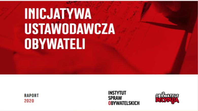 Inicjatywa ostawodawcza obywateli_okładka raportu