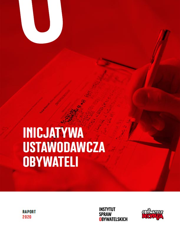 Inicjatywa ustawodawcza obywateli – okładka