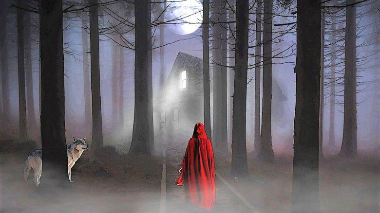 pełnia Księżyca i Czerwony Kapturek