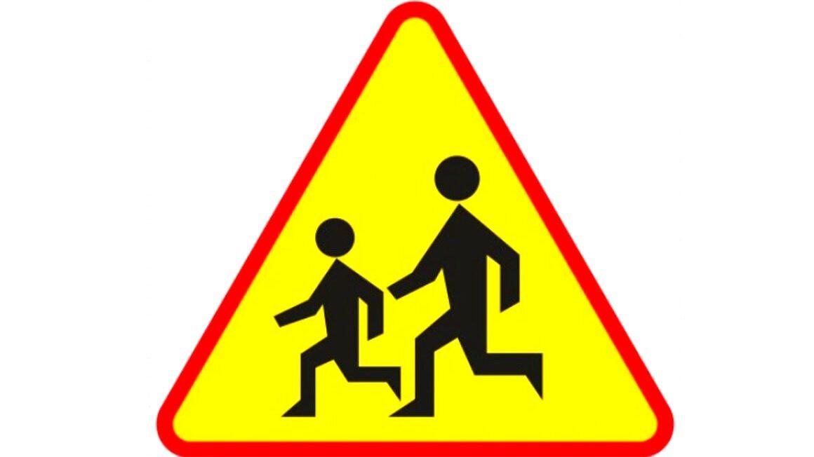 uwaga dzieci - znak drogowy
