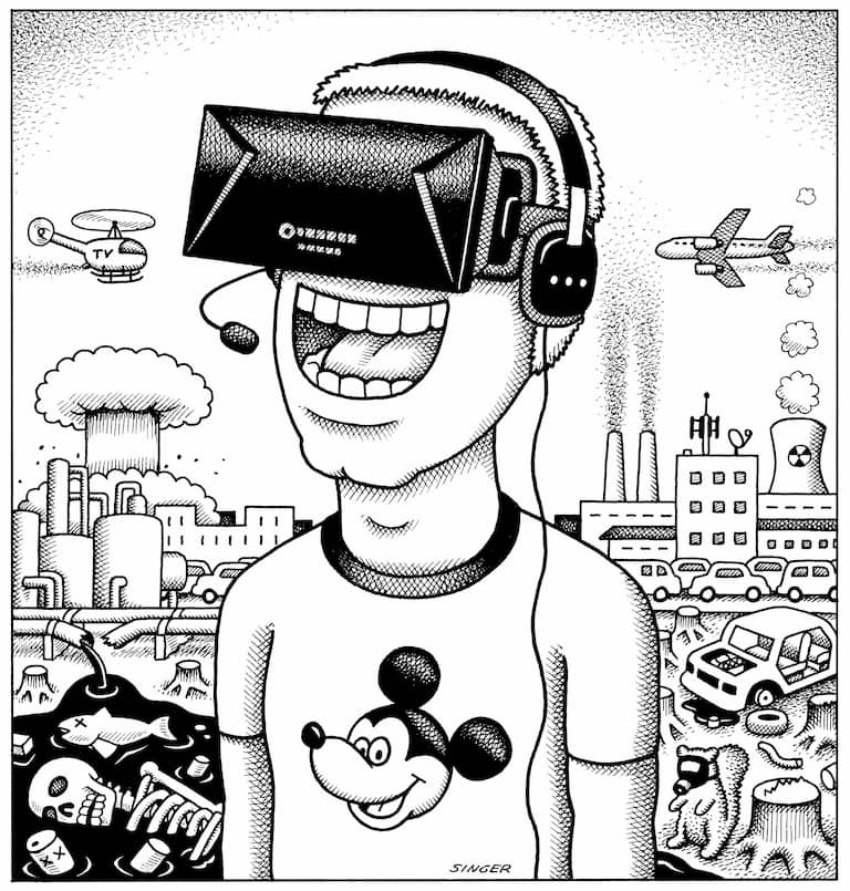 Oculus 3d goggles rys. Andy Singer