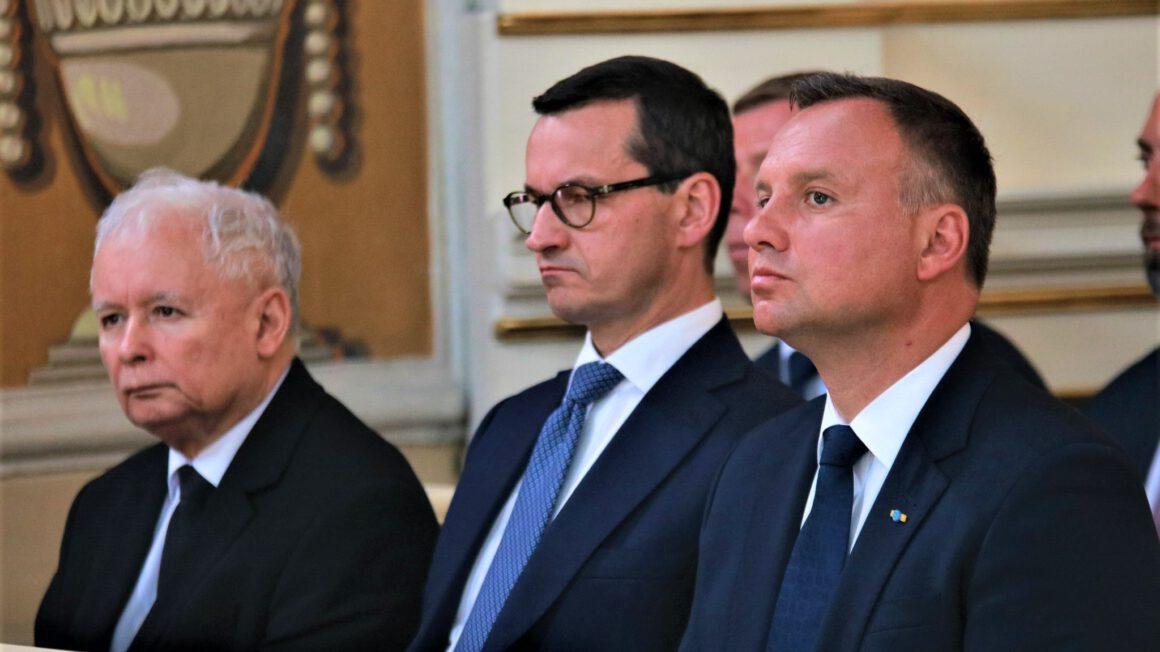 J. Kaczyński, M. Morawiecki, A. Duda