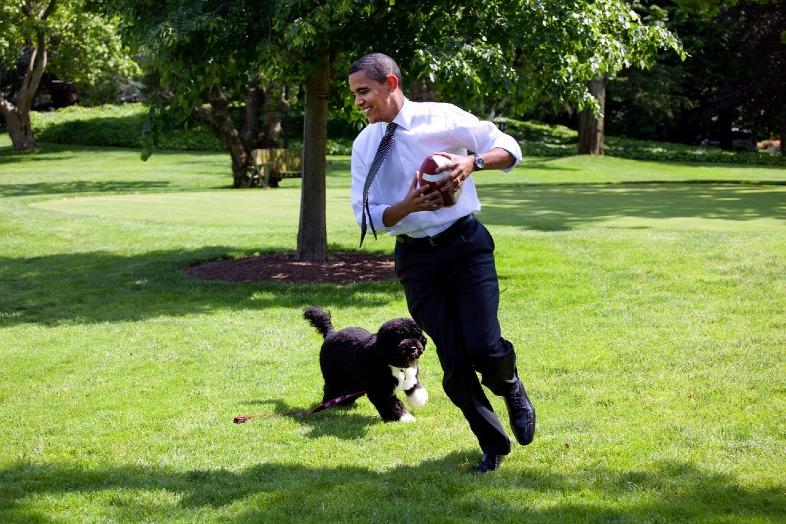 Barack Obama ijego pies Bo