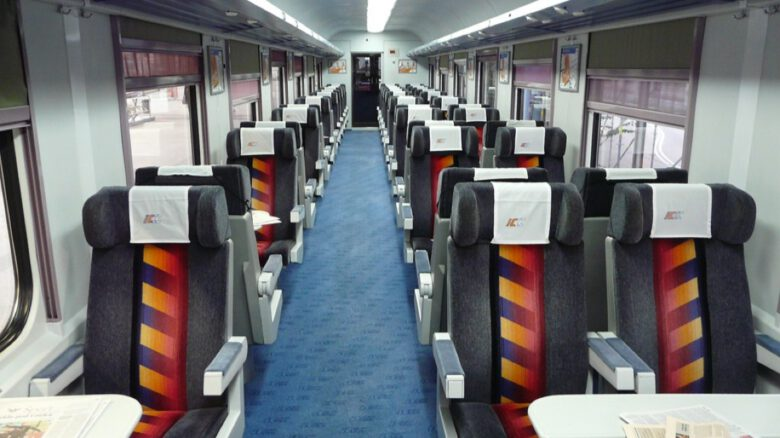 wnętrze pociągu
