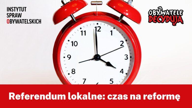 referendum lokalne; czas na reformę