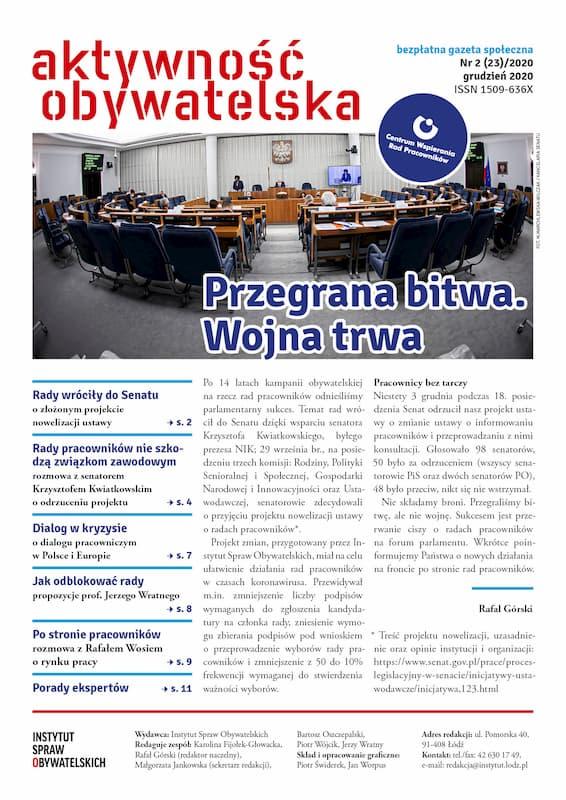 Aktywność Obywatelska nr2(23)/2020 – okładka