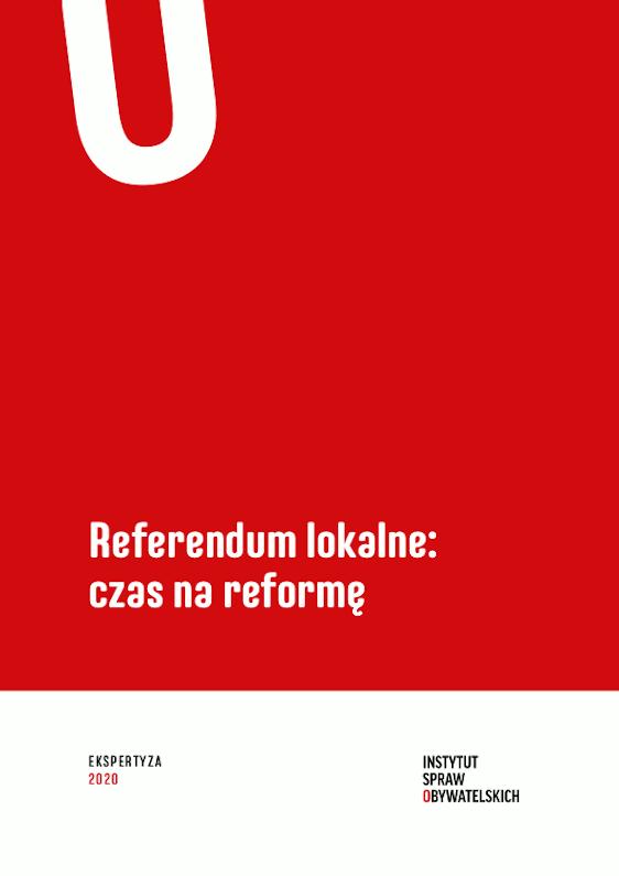 Referendum lokalne: czas nareformę – okładka