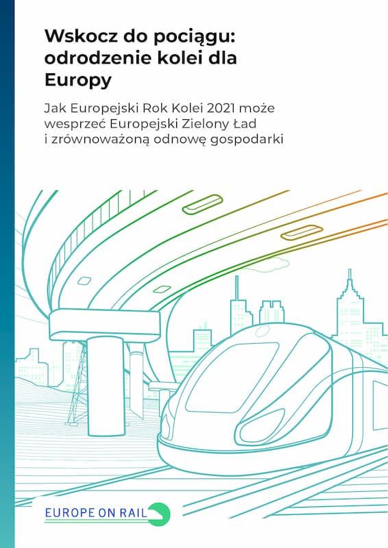 Wskocz dopociągu: odrodzenie kolei dla Europy – okładka