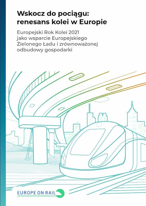 Wskocz dopociągu: renesans kolei wEuropie – okładka