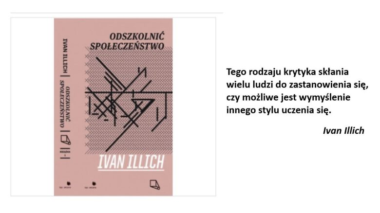 Ivan Illich_okładka książki Odszkolnić społeczeństwo