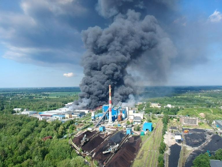 Pożar składowiska wZgierzu maj 2018 rok