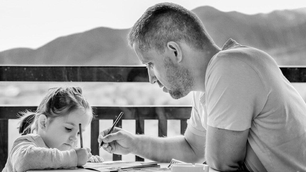 dziewczynka i ojciec