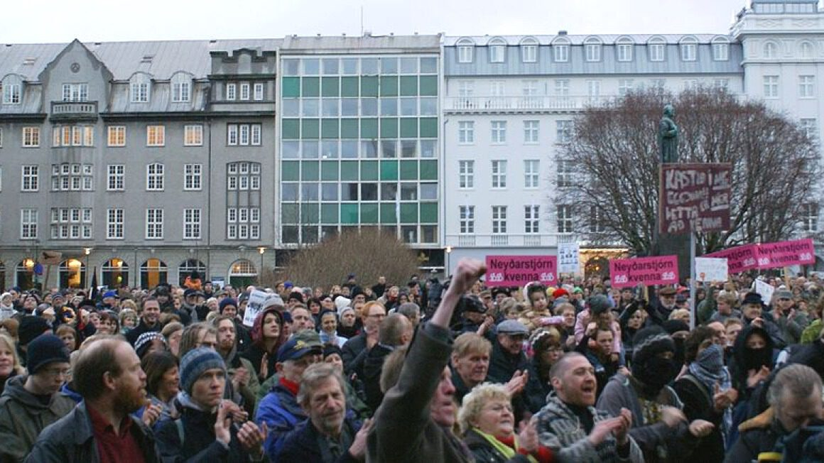 Islandia_protesty 2009 rok