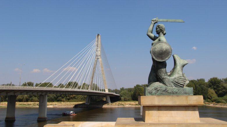 Warszawska Syrenka i Most Świętokrzyski